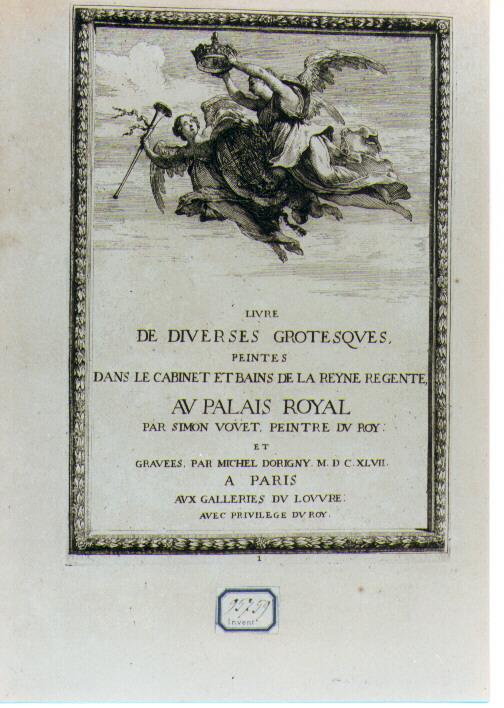 allegoria della Francia (stampa) di Vouet Simon, Dorigny Michel (sec. XVII)
