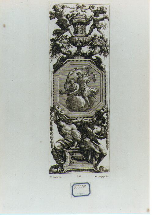 grottesca (stampa) di Dorigny Michel, Vouet Simon (sec. XVII)