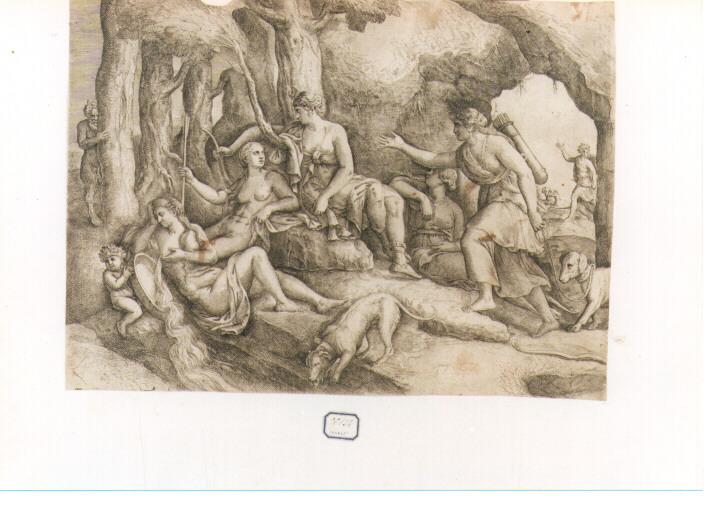 bagno di Diana (stampa) di Franco Giovanni Battista detto Semolei (sec. XVI)