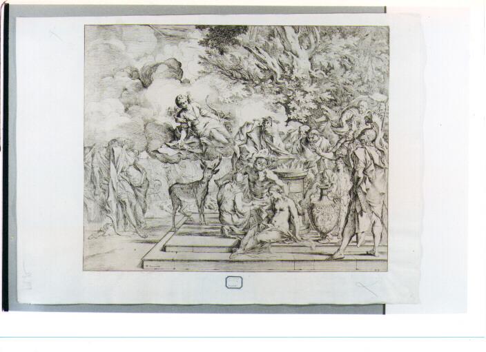 sacrificio di Ifigenia (stampa) di Testa Pietro detto Lucchesino (sec. XVII)