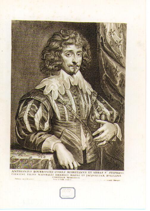 ritratto di Antonio di Borbone (stampa) di De Bailliu Pieter il Vecchio, Van Dyck Anton (sec. XVII)