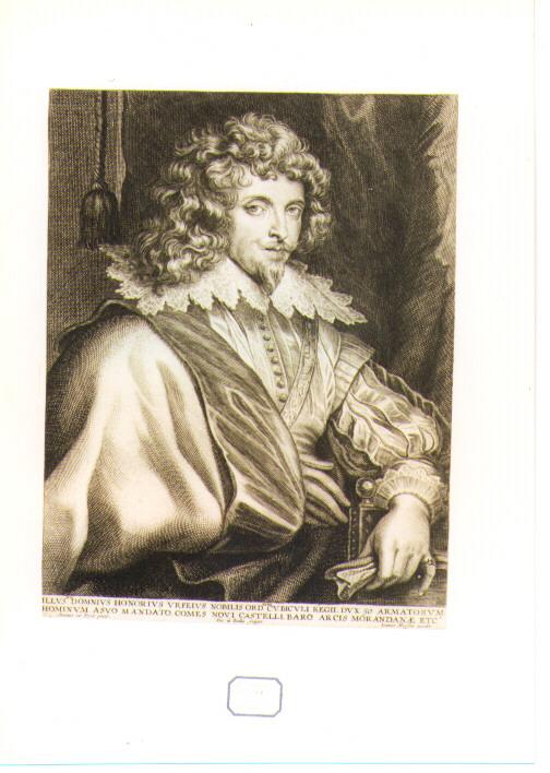 ritratto di Onorio Orfeio (stampa) di De Bailliu Pieter il Vecchio, Van Dyck Anton (sec. XVII)