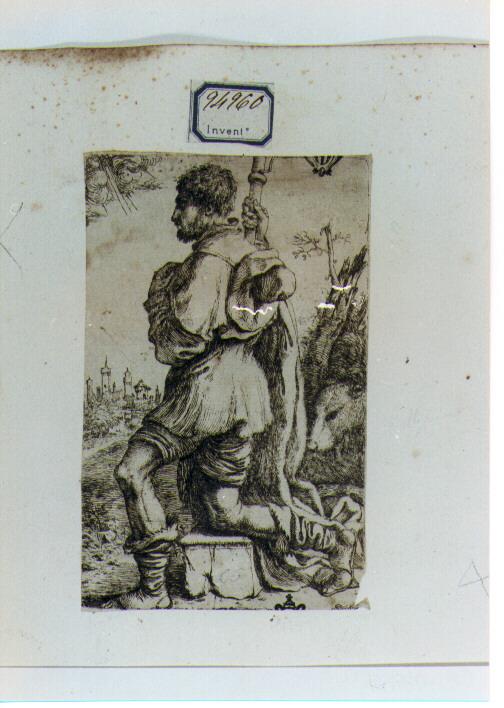 San Rocco (stampa) di Caletti Giuseppe detto Cremonese (sec. XVII)