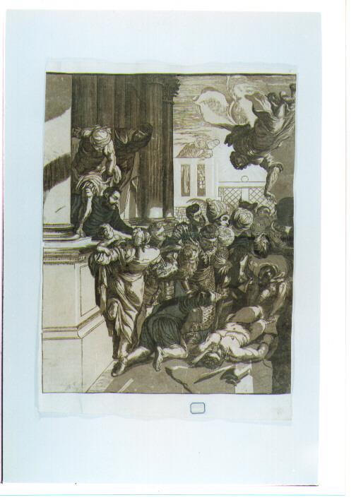 San Marco libera lo schiavo (stampa a colori) di Jackson John Baptist, Robusti Jacopo detto Tintoretto (sec. XVIII)