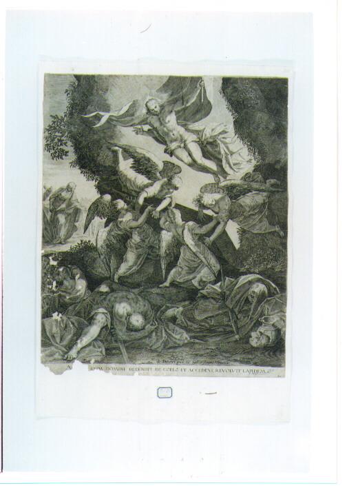 resurrezione di Cristo (stampa) di Sadeler Aegidius (sec. XVII)
