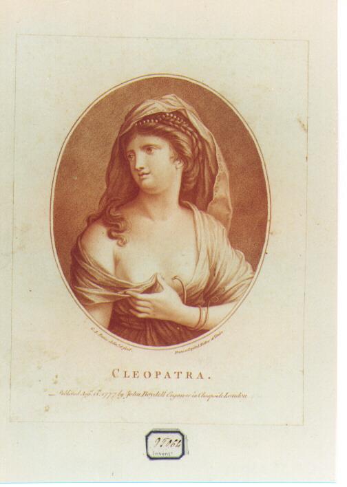 figura femminile (stampa a colori) - ambito italiano (sec. XVIII)