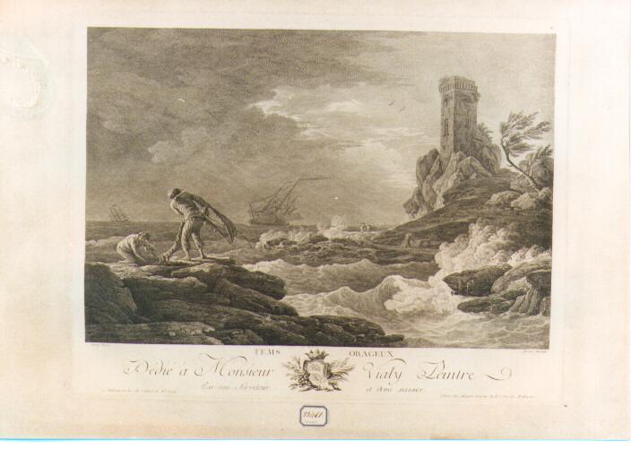 paesaggio marino (stampa) di Vernet Claude Joseph (sec. XVIII)
