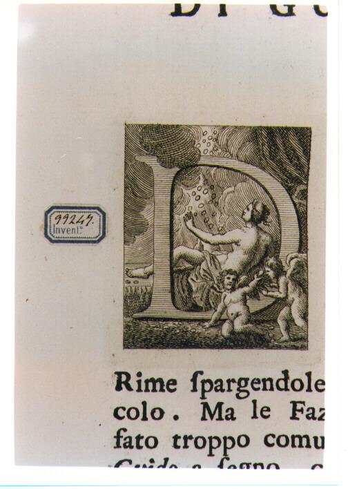 CAPOLETTERA D CON DANAE (stampa) di Allegrini Francesco (attribuito) (sec. XVIII)