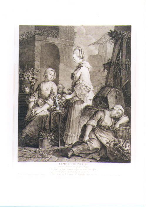 FIORAIA (stampa controfondata smarginata) di Charpentier, De Delaunay Nicolas (sec. XVIII, seconda metà)