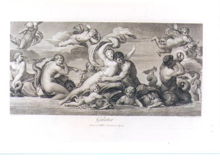 GALATEA (stampa) di Carracci Agostino, Cunego Domenico (sec. XVIII)