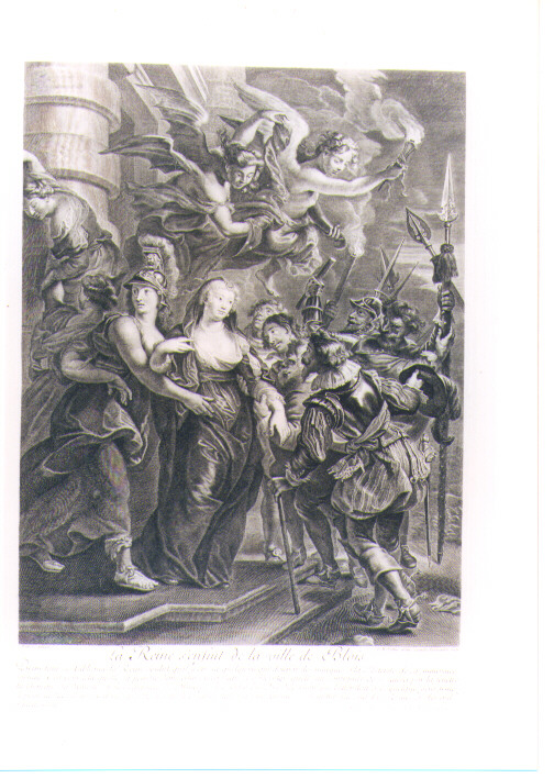 MARIA DEI MEDICI SI RIFUGIA A BLOIS (stampa) di Rubens Pieter Paul, Vermeulen Cornelis, Nattier Jean Marc (sec. XVIII)
