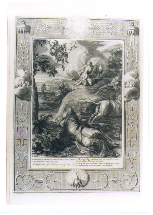 IO TRASFORMATA IN MUCCA CUSTODITA DA ARGO (stampa) di Picart Bernard (sec. XVIII)