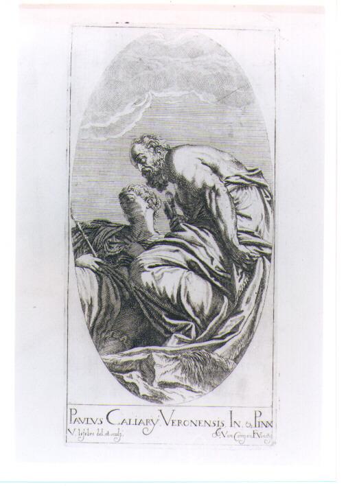 VENEZIA E SAN PIETRO (stampa) di Caliari Paolo detto Paolo Veronese, Lefèvre Valentin (sec. XVII)