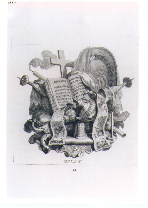 SIMBOLI E ARREDI LITURGICI (stampa) di Van Audenaerde Robert (sec. XVIII)