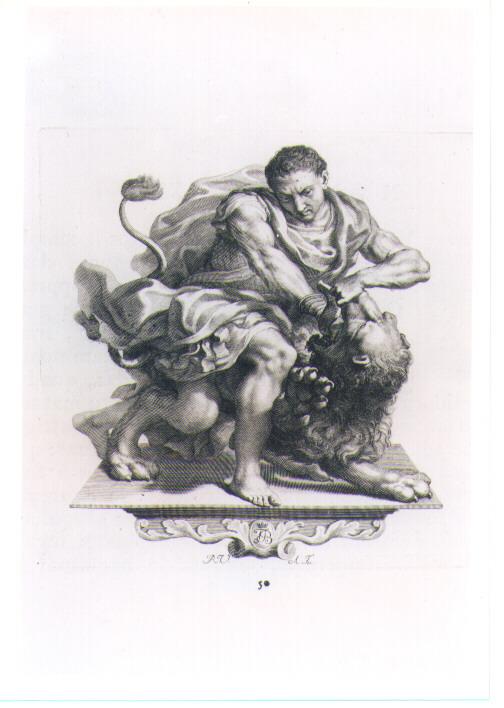 FIGURA ALLEGORICA MASCHILE (stampa) di Van Audenaerde Robert (sec. XVIII)