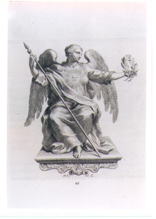 ALLEGORIA DELLA FAMA (stampa) di Van Audenaerde Robert (sec. XVIII)