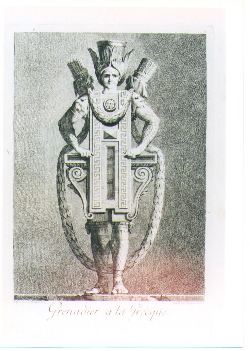 MASCHERATA ALLA GRECA: GRANATIERE (stampa) di Petitot Ennemond Alexandre, Bossi Benigno (sec. XVIII)