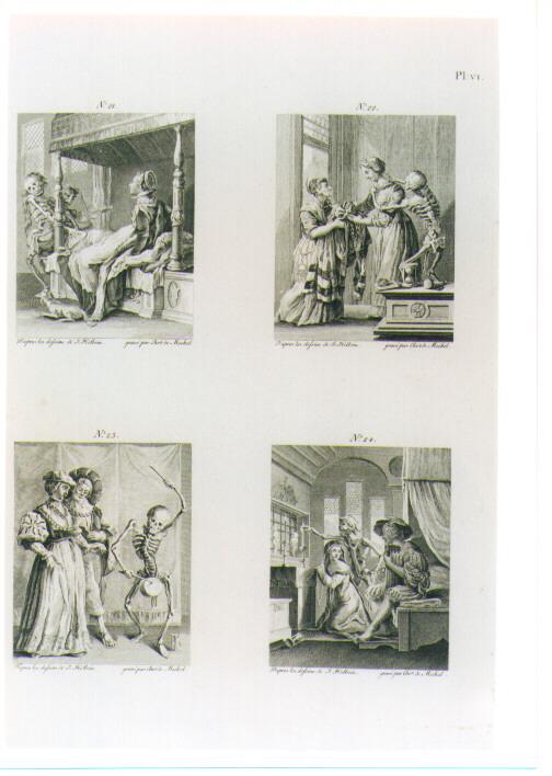 SCENE DEL TRIONFO DELLA MORTE (stampa) di Holbein Hans il Giovane, Von Mechel Christian (sec. XVIII)