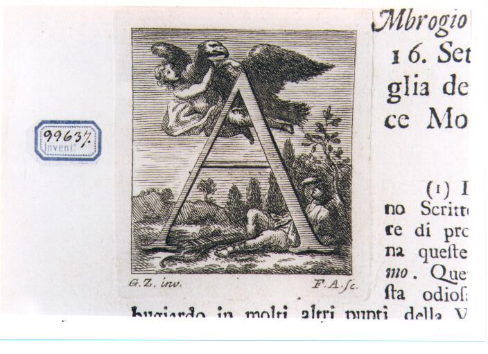 CAPOLETTERA A CON RATTO DI GANIMEDE (stampa) di Zocchi Giuseppe, Allegrini Francesco (sec. XVIII)