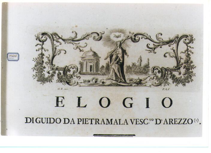 ALLEGORIA DELLA RELIGIONE (stampa) di Zocchi Giuseppe, Allegrini Francesco (sec. XVIII)