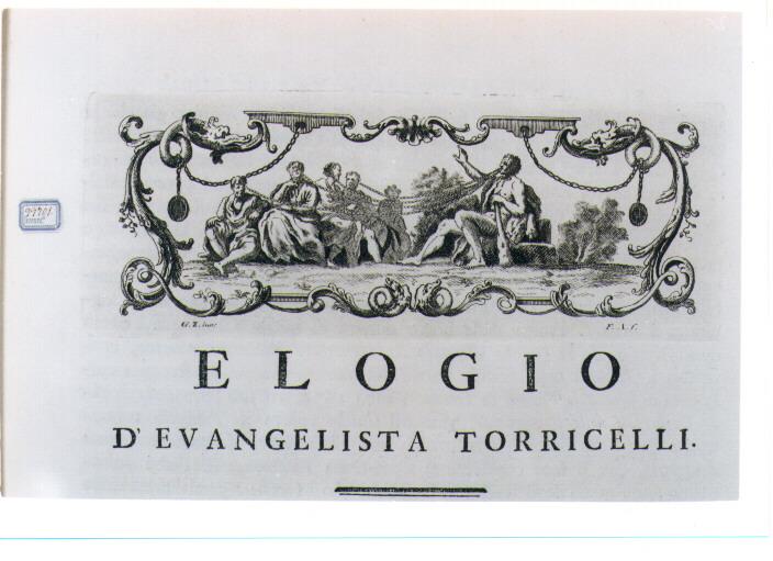 ALLEGORIA DELLA FORZA DELL'ELOQUENZA (stampa) di Zocchi Giuseppe, Allegrini Francesco (sec. XVIII)