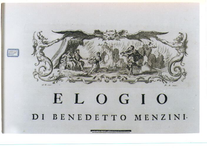 ORFEO ED EURIDICE (stampa) di Zocchi Giuseppe, Allegrini Francesco (sec. XVIII)