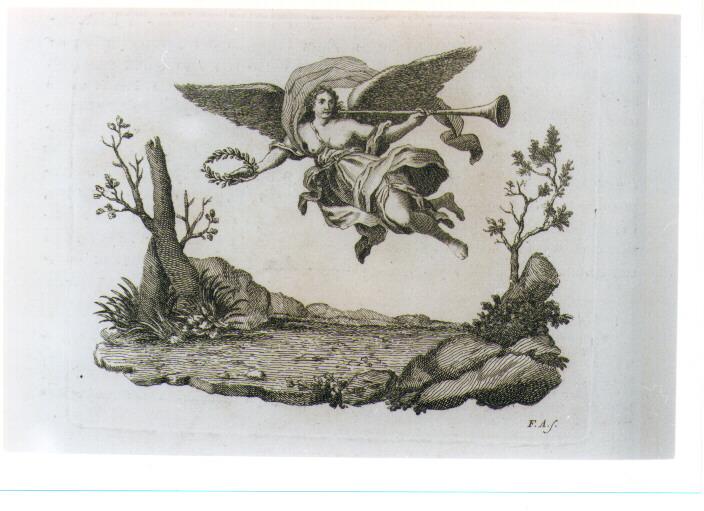 ALLEGORIA DELLA GLORIA (stampa) di Allegrini Francesco (sec. XVIII)