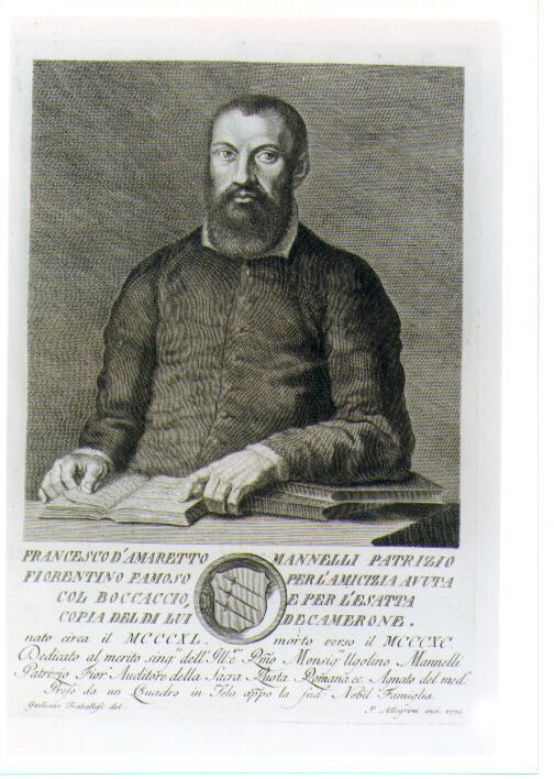 RITRATTO DI FRANCESCO MANNELLI (stampa) di Allegrini Francesco, Traballesi Giuliano (sec. XVIII)