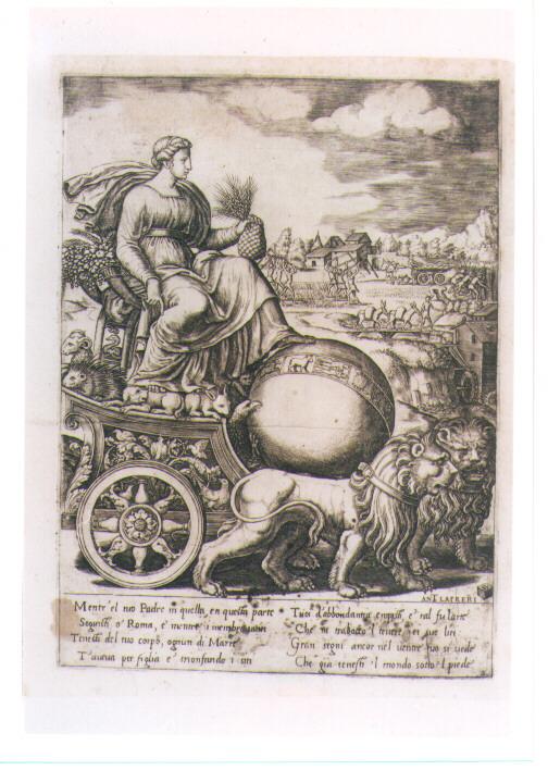 CIBELE (stampa controfondata) di Pippi Giulio detto Giulio Romano, Daddi Bernardo (sec. XVI)