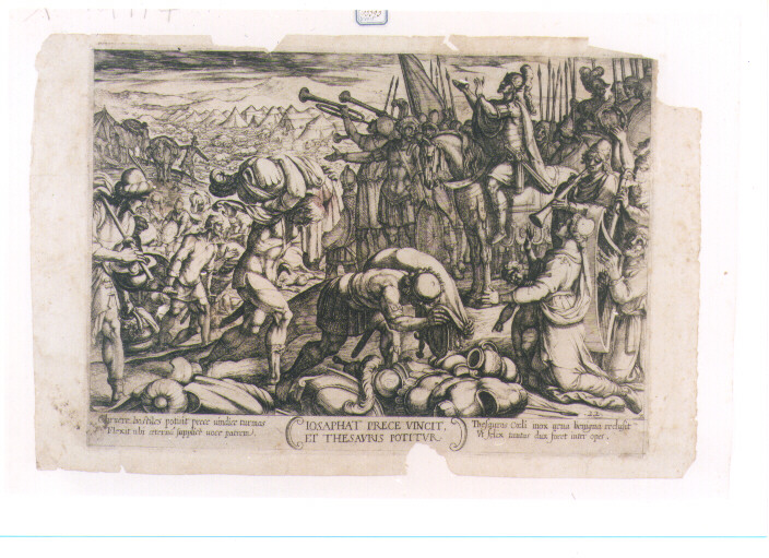 TRIONFO DI GIOSAFAT (stampa controfondata) di Tempesta Antonio (sec. XVII)