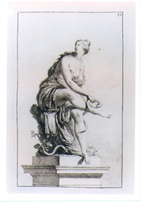 STATUA DI REA (stampa) di Beyer Johann Christian Wilhelm - AMBITO VIENNESE (sec. XVIII)