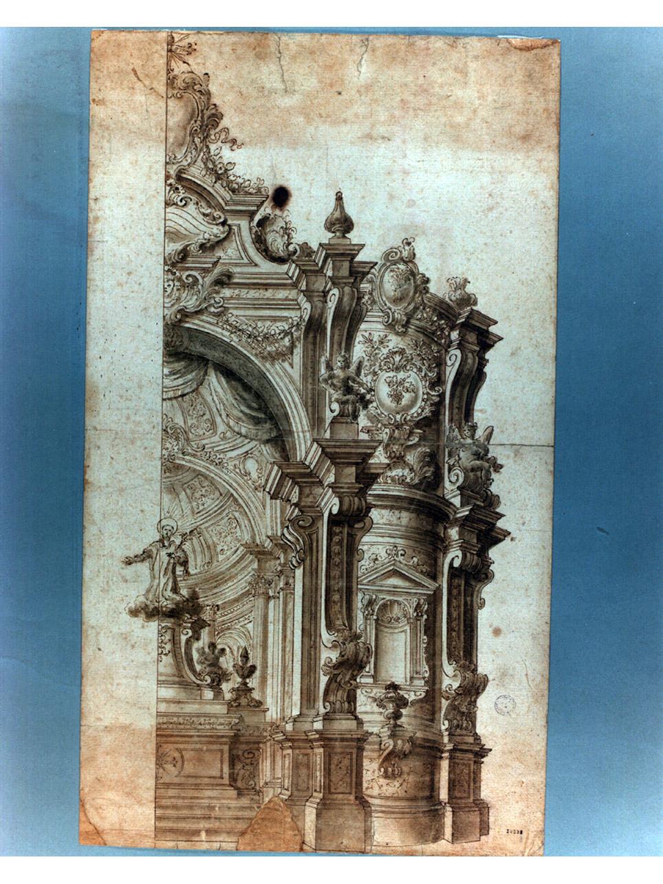 apparato festivo (disegno) di Galli Francesco detto Francesco Bibiena (sec. XVIII)