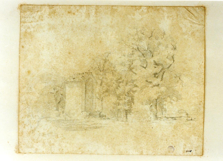cappella in un bosco (disegno) di Buntzen Heinrich Christian August (metà sec. XIX)