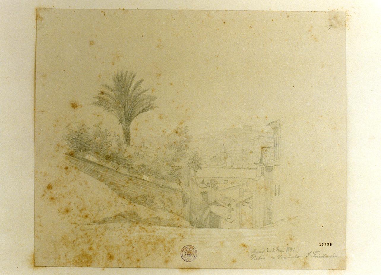 veduta di Roma (disegno) di Friedlaender Julius (sec. XIX)