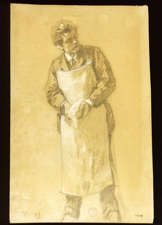 venditore di cacciagione (disegno) di Johansen Viggo (sec. XIX)