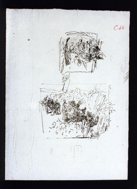 studi di figure (disegno) di Vetri Paolo (secc. XIX/ XX)