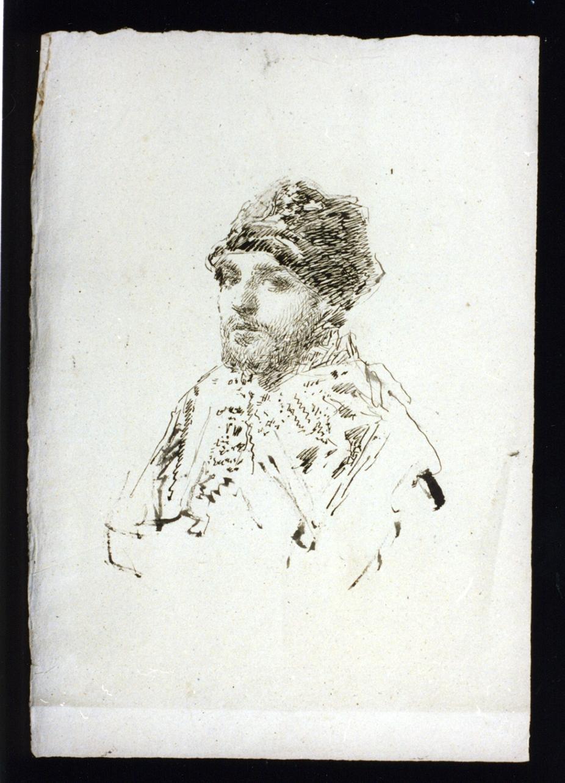 autoritratto di Paolo Vetri (disegno) di Vetri Paolo (sec. XIX)