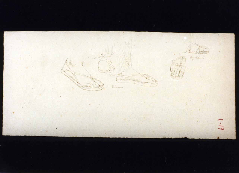 studio di piedi con calzari (disegno) di Vetri Paolo (ultimo quarto sec. XIX)