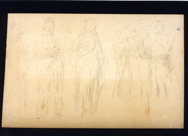 cinque Santi (disegno) di Vetri Paolo (ultimo quarto sec. XIX)