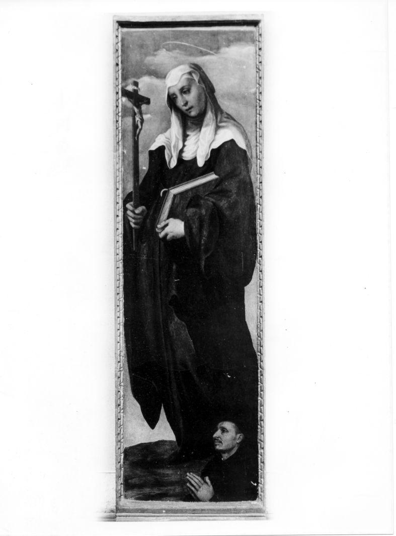 Santa Monica (dipinto) di Curia Michele (sec. XVI)