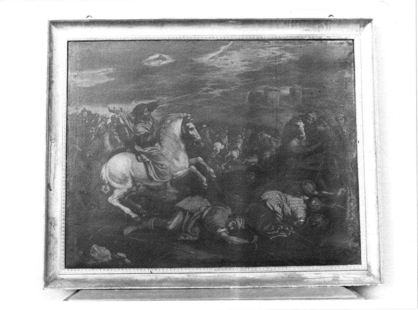 scena di battaglia (dipinto) - ambito Italia meridionale (sec. XVII, seconda metà)