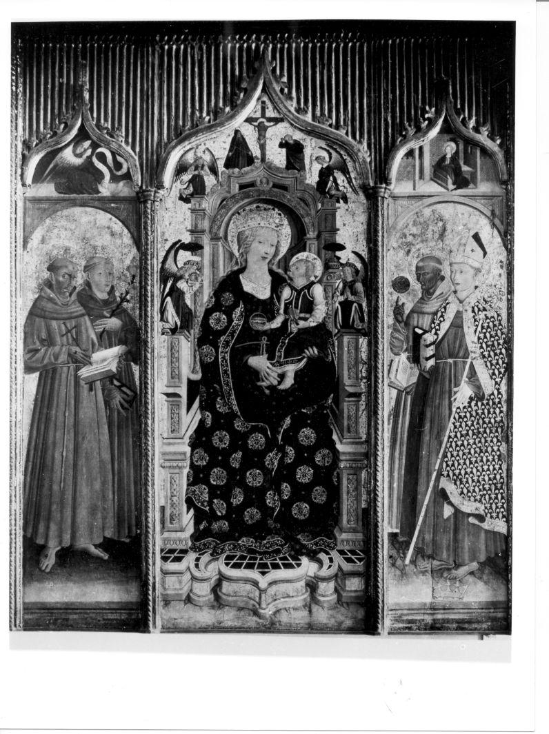 Madonna con Bambino e Santi (polittico) di Maestro dell'Incoronazione di Eboli (attribuito) (sec. XV)