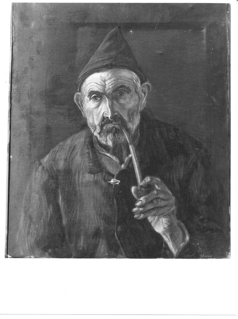 ritratto d'uomo (dipinto) di Pinto Gennaro (attribuito) (sec. XIX)