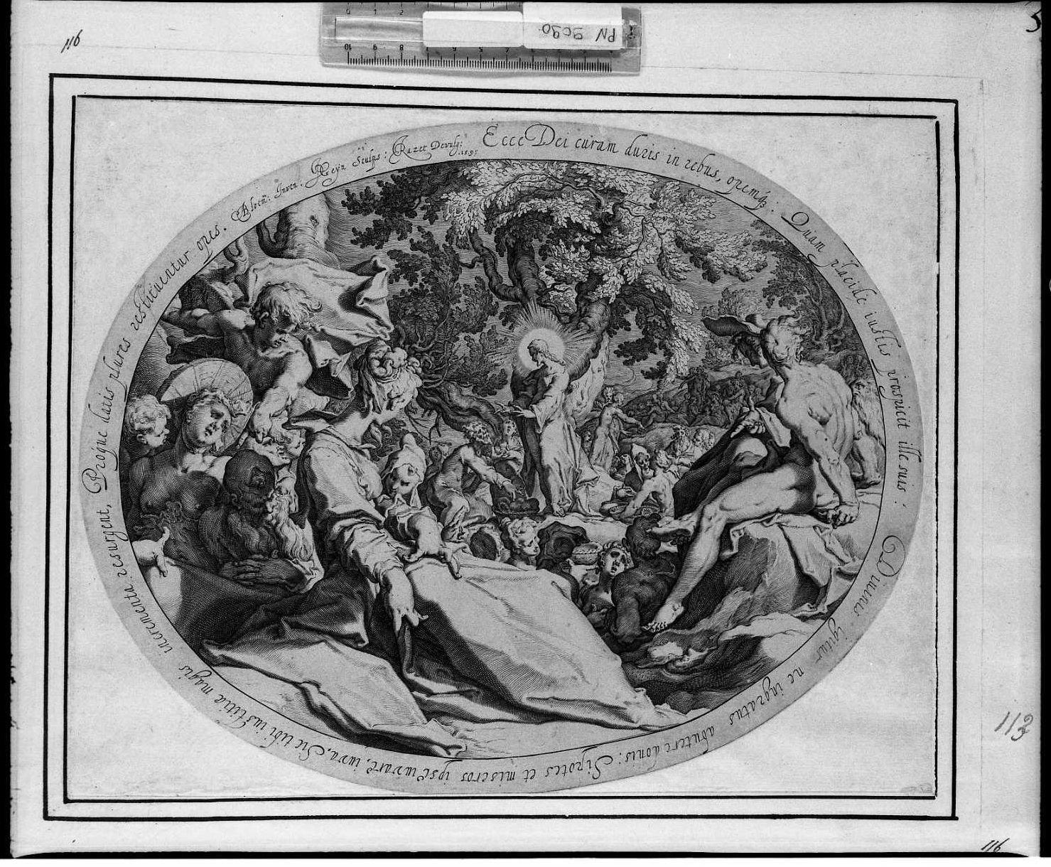 La moltiplicazione dei pani (stampa) di De Gheyn Jacob (sec. XVII)