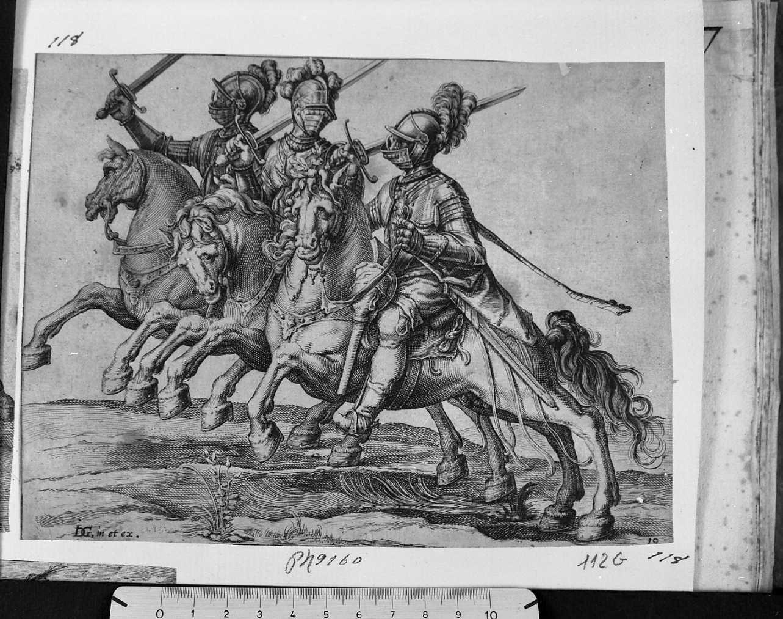 Esercizi di cavalleria (stampa) di De Gheyn Jacob (sec. XVII)