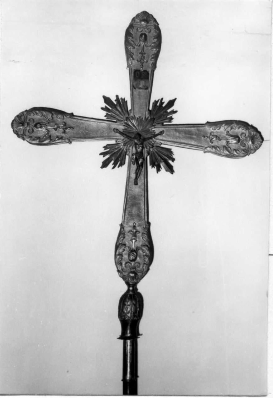 Cristo crocifisso (croce processionale) - bottega emiliana (sec. XIX)