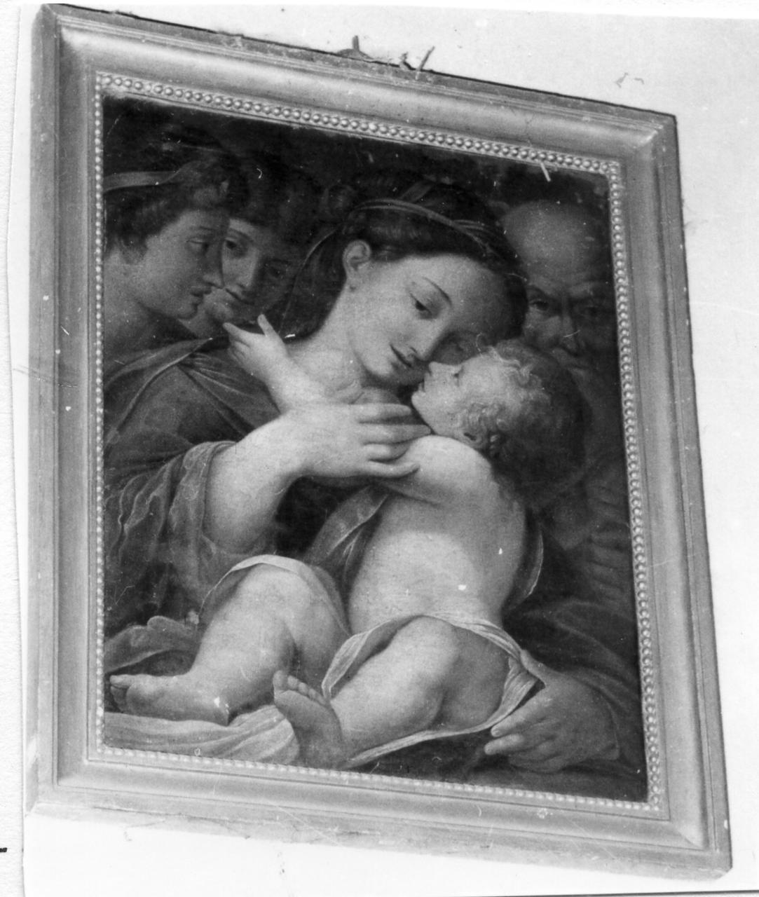 Sacra Famiglia con angeli (dipinto) - ambito parmense (seconda metà sec. XVI)