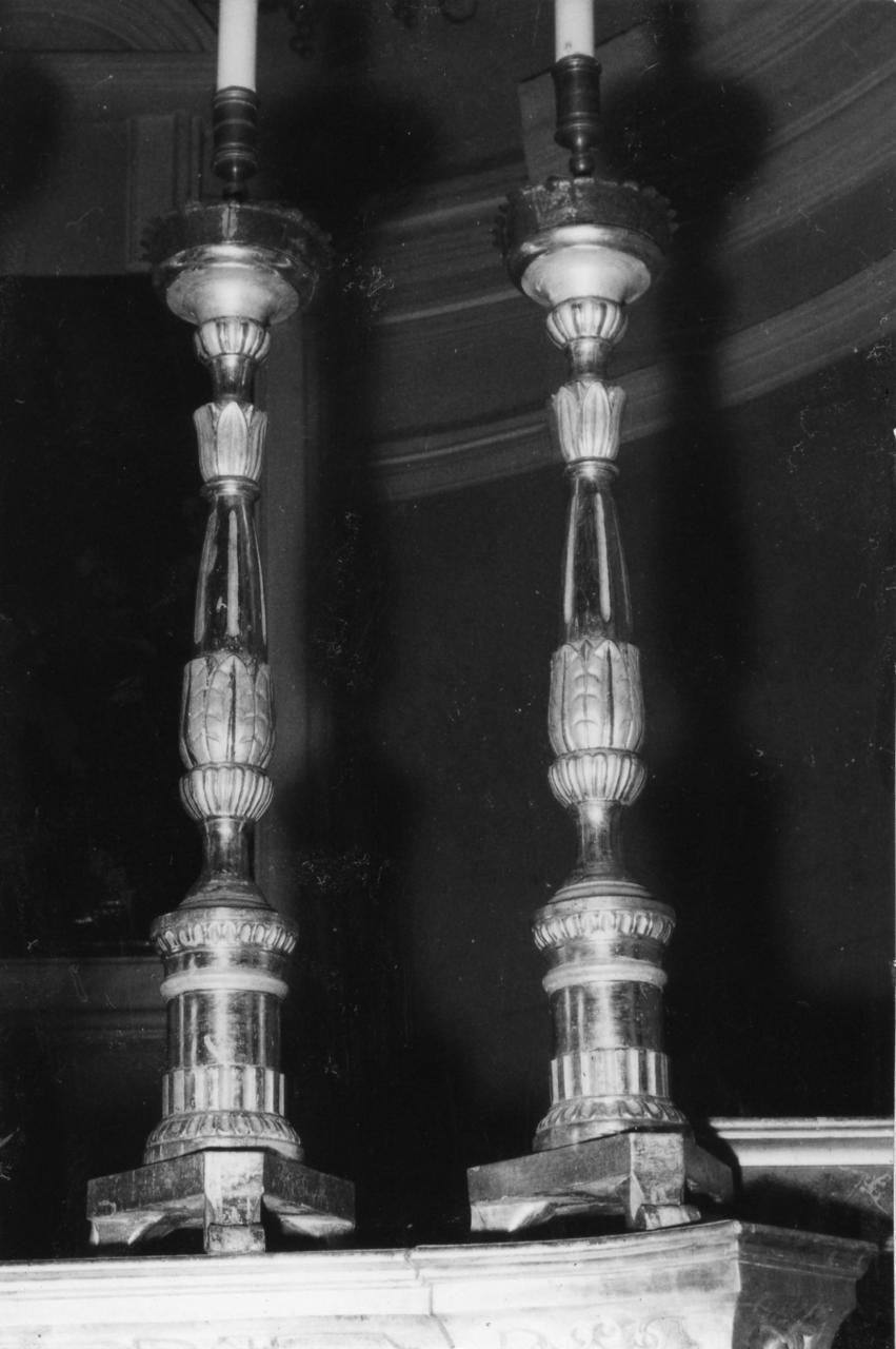 candeliere, serie - bottega emiliana (sec. XIX)