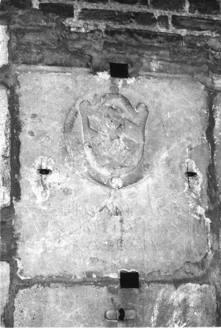 lapide tombale - bottega carpigiana (inizio sec. XVII)