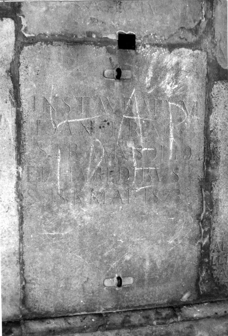 lapide tombale - bottega carpigiana (terzo quarto sec. XIX)